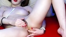hairy russian cam-bitch heavy make-up
