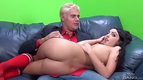 Curly haired cutie Daiana Big wheel gets her lovable pussy pounded