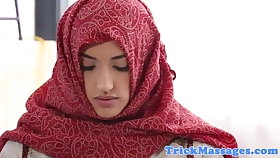 Arab teen on every side hijab came everywhere massage