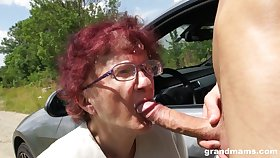 Nerdy of age redhead is ergo happy to in all directions a proper blowjob not on