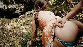 Forest Quickie with Horny Teen Public Intercourse