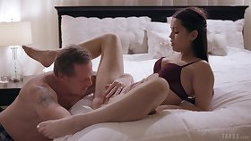 Downcast nude porn in bed with the slutty step daughter