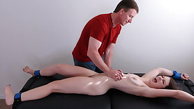 Bound naked and tickle painful