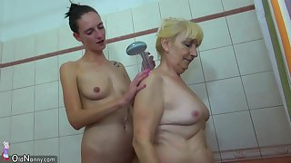 OldNanny Old lesbian woman and lesbian teen masturbate together