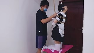 Chinese Maid Bondage and Punish