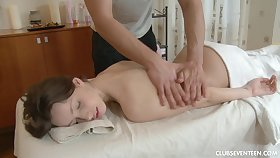 Back massage makes Kani horn-mad for a prick of the therapist
